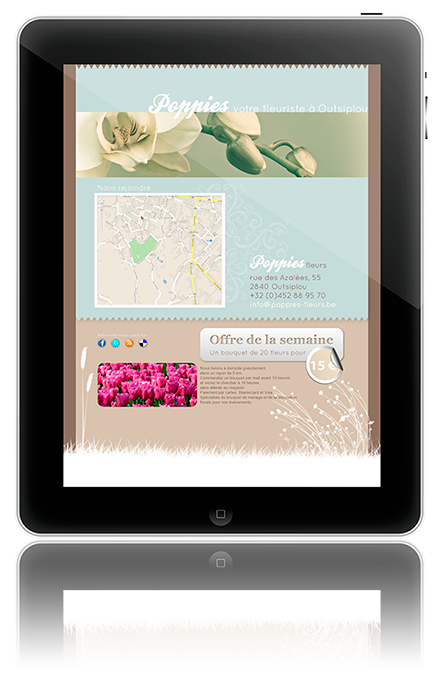 exemple template site fleuriste