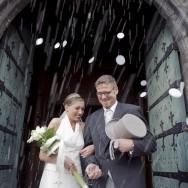 Jeunes mariés à Binche