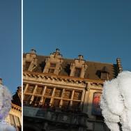 chapeaux des Gilles devant l'hôtel de ville